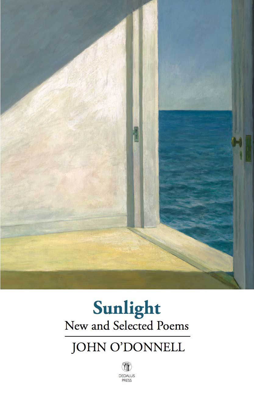 Sunlight by John O'Donnell cover - Dedalus Press, poetry from Ireland and the world